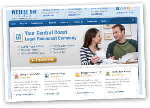 We Help You Legal Web Design in Paso Robles